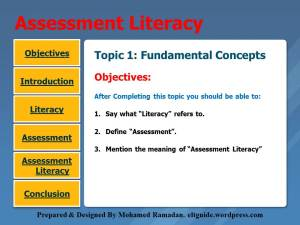 Topic 1. Assessment Literacy-Concepts