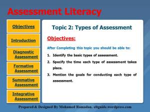 Topic 2. Types of Assessment